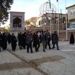 حضور دانشجویان دانشکده فنی مهندسی اسفراین در مراسم عزاداری تاسوعا، روستای روئین